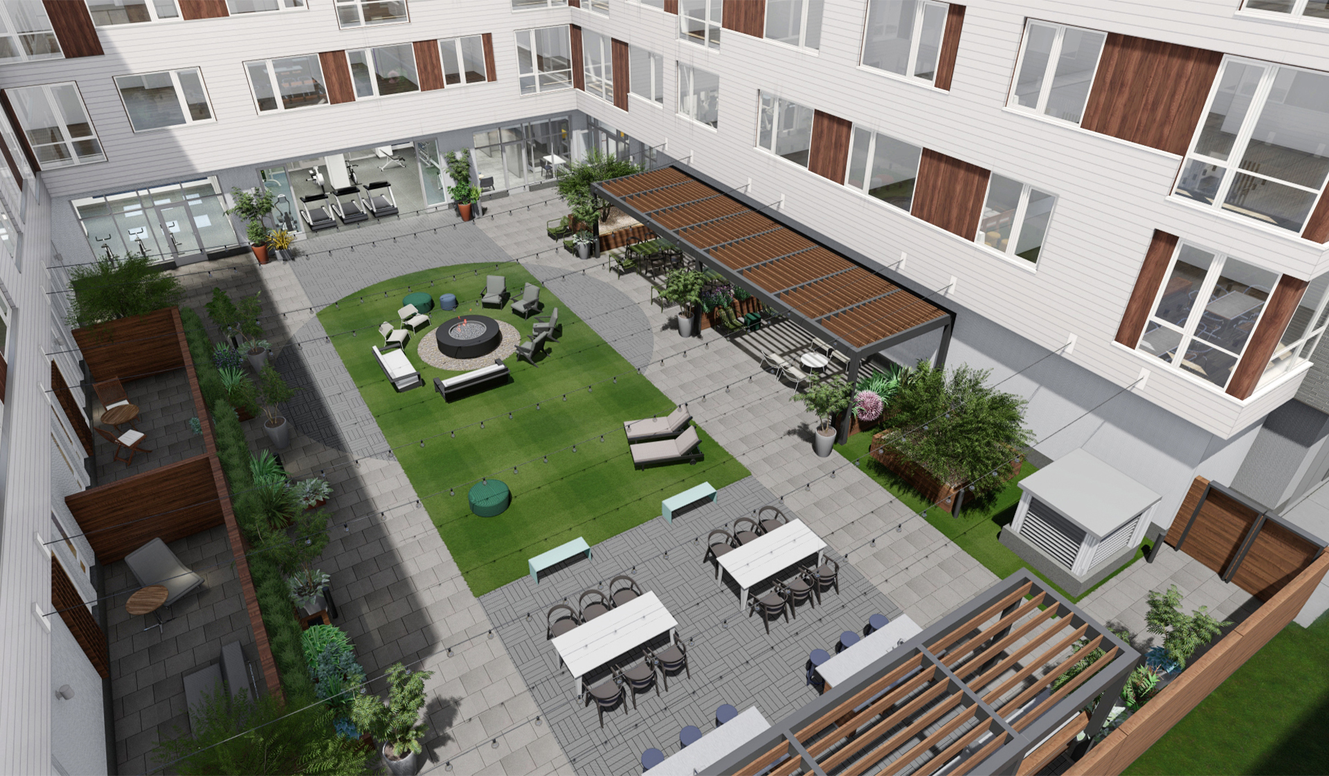 Prism - Kendall Square Apartments - Courtyard