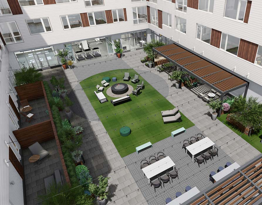 Cambridge Apartments - Prism - courtyard